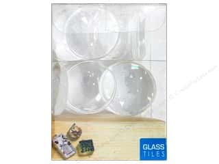 Sierra Pacific Glass Tiles 1 in. Round Convex Clear 16 pc.