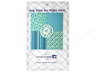 Books & Patterns Birthdays: License To Quilt Nap Time For Night Owls Pattern