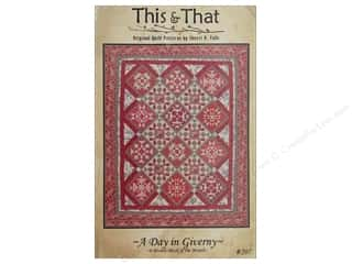 Clearance Patterns: This & That A Day In Giverny Block A Month Pattern