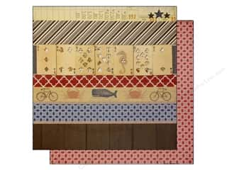 Bazzill Cardstock: Bazzill 12 x 12 in. Paper Beach House Beach Bits/Sailor Knots 25 pc.