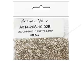jump rings: Artistic Wire Jump Rings 20 ga. 3/32 in. Silver 650 pc.