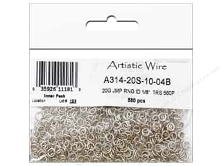 jump rings: Artistic Wire Jump Rings 20 ga. 1/8 in. Silver 560 pc.