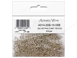 jump rings: Artistic Wire Jump Rings 20 ga. 9/64 in. Silver 510 pc.