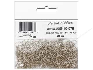 Clearance Blumenthal Favorite Findings Jump Rings / Spring Rings: Artistic Wire Chain Maille Jump Rings 20 ga. 11/64 in. Silver 400 pc.