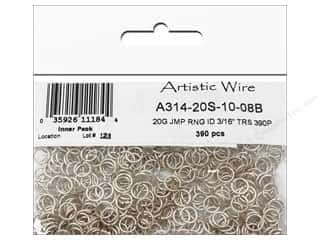 jump rings: Artistic Wire Jump Rings 20 ga. 3/16 in. Silver 390 pc.