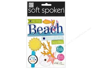 Sand Clearance Crafts: Me&My Big Ideas Sticker Soft Spoken At the Beach Sun & Sand