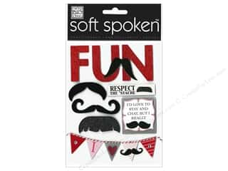 Me & My Big Ideas: MAMBI Sticker Soft Spoken Mustache Fun