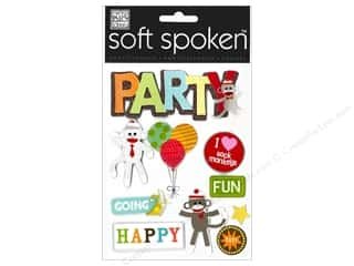 MAMBI Sticker Soft Spoken Sock Monkey Party