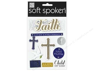 MAMBI Sticker Soft Spoken Faith Gold Cross