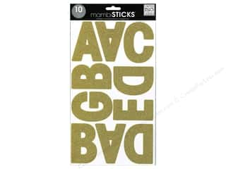 ABC & 123 MAMBI Sticker: Me&My Big Ideas Sticker Banner Alpha Garde Glitter Gold