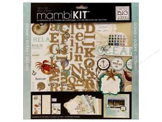"Me & My Big Ideas MAMBI Sticker Chipboard: Me&My Big Ideas Kit Scrapbook 12""x 12"" Ocean"
