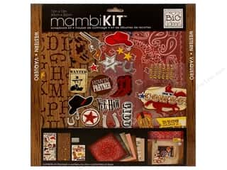 "Chipboard MAMBI Kit Scrapbook: Me&My Big Ideas Kit Scrapbook 12""x 12"" Western"