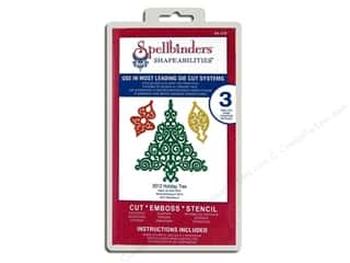 Clearance Spellbinders Presto Punch Template: Spellbinders Shapeabilities Die 2012 Holiday Tree