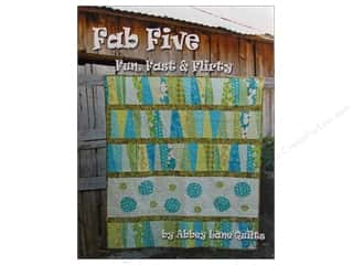 Sheet Vinyl Books & Patterns: Abbey Lane Quilts Fab Five Fun Fast & Flirty Book