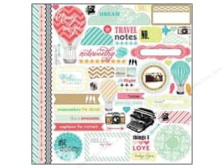 Vacations Hot: Echo Park Sticker 12 x 12 in. Everyday Eclectic Collection Element (15 sets)