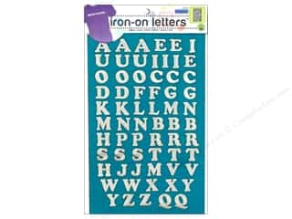 Dritz Iron On Letters Embroidered Cooper Silver