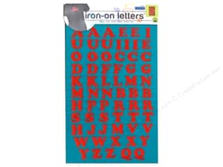 Sewing Construction ABC & 123: Embroidered Iron On Letters by Dritz Red