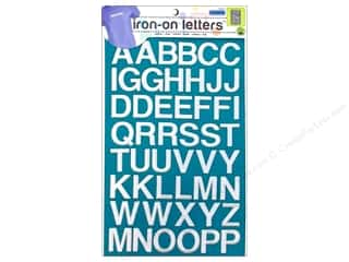 Dritz Iron On Letters Embroidered Block White
