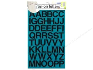 Appliques ABC & 123: Embroidered Iron On Letters by Dritz Black