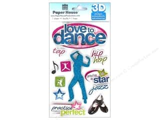 Stickers $3 - $4: Paper House Sticker 3D Love To Dance