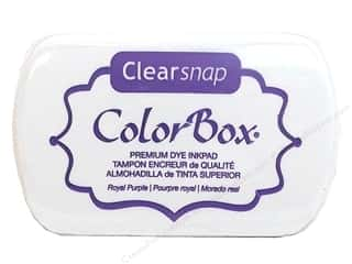 Clearance ColorBox Fluid Chalk Ink Pad Queues: ColorBox Premium Dye Inkpad Royal Purple