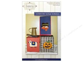 Halloween Books & Patterns: Legacy Country Home Towels Pattern