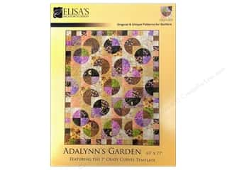Elisa's Backporch Design Quilting Templates / Sewing Templates: Elisa's Backporch Adalynn's Garden Pattern