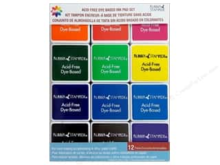 Stamping Ink Pads Craft & Hobbies: Delta Ink Pad Set Acid Free Primary 12pc
