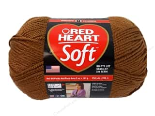worsted weight yarn: Red Heart Soft Yarn Toast 5 oz.