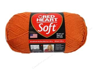 Worsted yarn: Red Heart Soft Yarn Tangerine 5 oz.