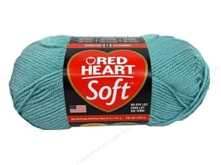 Worsted yarn: Red Heart Soft Yarn Seafoam 5 oz.