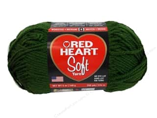 Red Heart Soft Yarn Dark Leaf 5 oz.