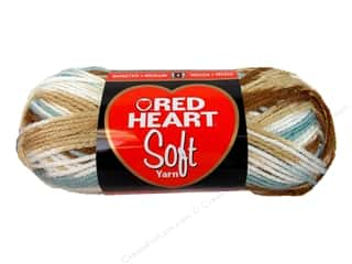 Yarn, Knitting, Crochet & Plastic Canvas: Red Heart Soft Yarn #9934 Icy Pond 4 oz.