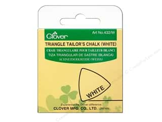 Collins Fabric Markers, Temporary & Permanent: Clover Triangle Tailor Chalk White