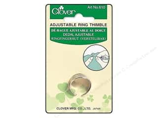Finger Protector/Thimbles: Clover Thimble Adjustable Ring