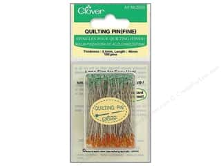 6mm: Clover Quilting Pins Fine 100 pc.