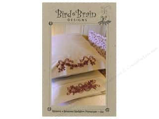 Ribbon Work Books & Patterns: Bird Brain Designs Ribbon & Blossom RedWork Pillowcase Pattern