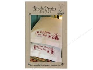 Patterns Clearance: Bee Humble Bee Kind RedWork Pillowcase Pattern