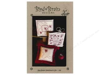 Bird Brain Design Quilting Patterns: Bird Brain Designs Sew Sweet RedWork Needlework Embroidery Set Pattern