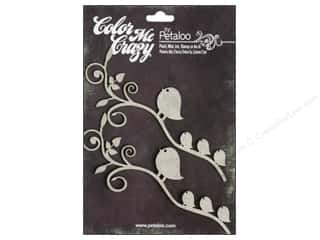 Clearance Petaloo Color Me Crazy: Petaloo Color Me Crazy Chipboard Birds Branch