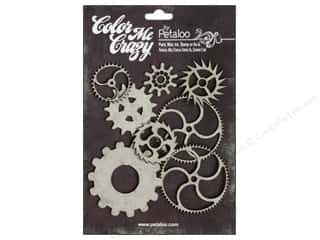 Petaloo Chipboard Embellishments: Petaloo Color Me Crazy Chipboard Gears