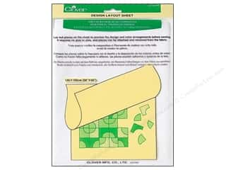 "2013 Crafties - Best Quilting Supply Clover Wonder Clips: Clover Design Layout Sheet 58""x 60"""