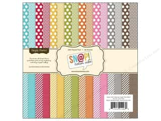 "Simple Stories Designer Papers & Cardstock: Simple Stories Paper Pad 6""x 6"" Snap Color Vibe"