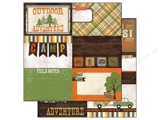 Simple Stories Hot: Simple Stories Paper 12 x 12 in.Take A Hike Journaling Card Elements #2 (25 pieces)