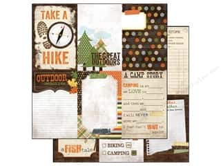 Simple Stories Hot: Simple Stories Paper 12 x 12 in. Take A Hike Vertical Journaling Card Elements (25 pieces)