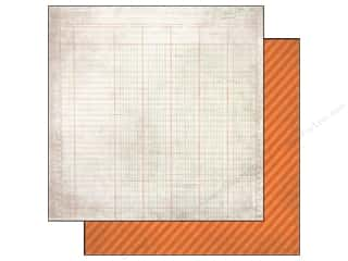Simple Stories Paper 12 x 12 in. Orange Stripe/Ledger (25 piece)
