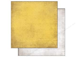 Simple Stories Paper 12 x 12 in. Yellow Chevron/Grid (25 piece)