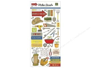Echo Park Sticker 6x12 Grandpa&#39;s Tool Shed (15 set)