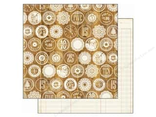 Clearance Echo Park 12 x 12 in. Paper: Echo Park 12 x 12 in. Paper This & That Christmas Collection Wooden Nickel (25 pieces)