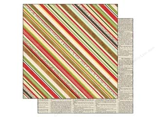 Echo Park Paper 12x12 This &amp; That Xmas Stripes (25 piece)
